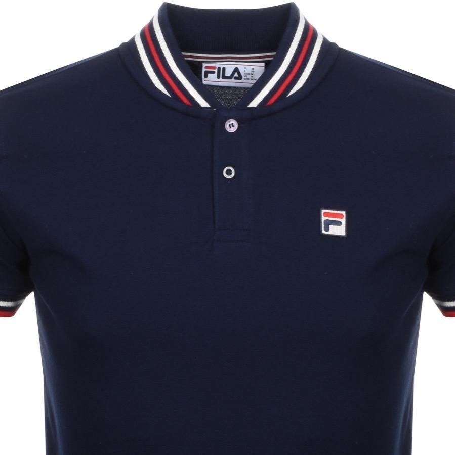 Lyst - Fila Vintage Skipper Yd Rib Collar T Shirt Nvay in ...