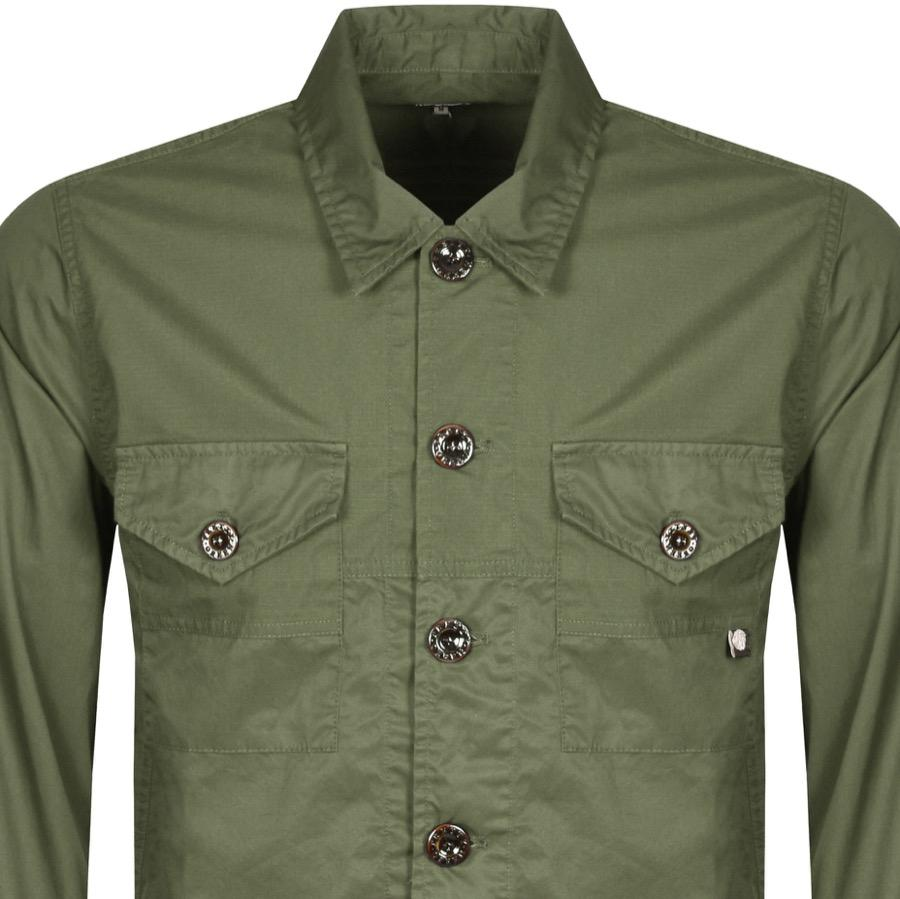8abe675ec0d Pretty Green Robinia Long Sleeve Overshirt Khaki in Green for Men - Lyst