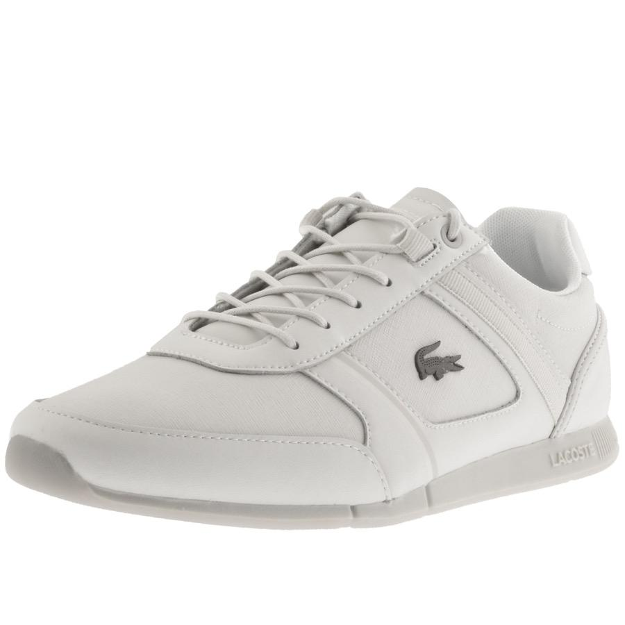 d7ee7f222 Lacoste Menerva Trainers Cream in Natural for Men - Lyst