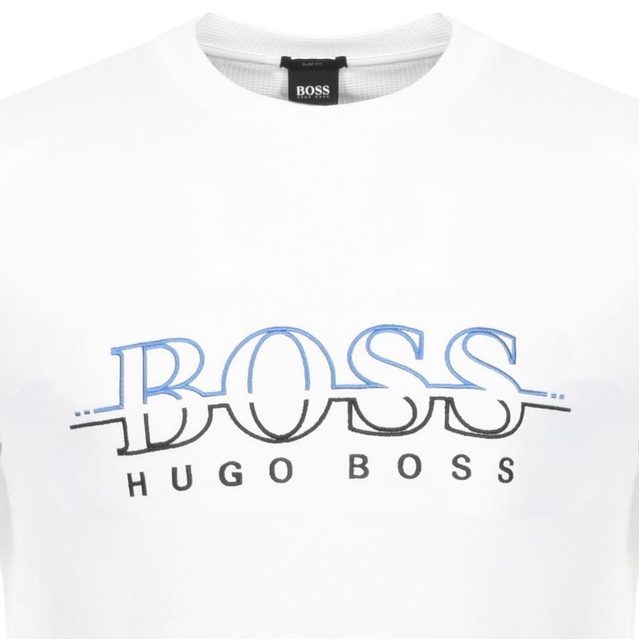be52b4aec6 BOSS Athleisure Boss Green Salbo Sweatshirt White in White for Men ...