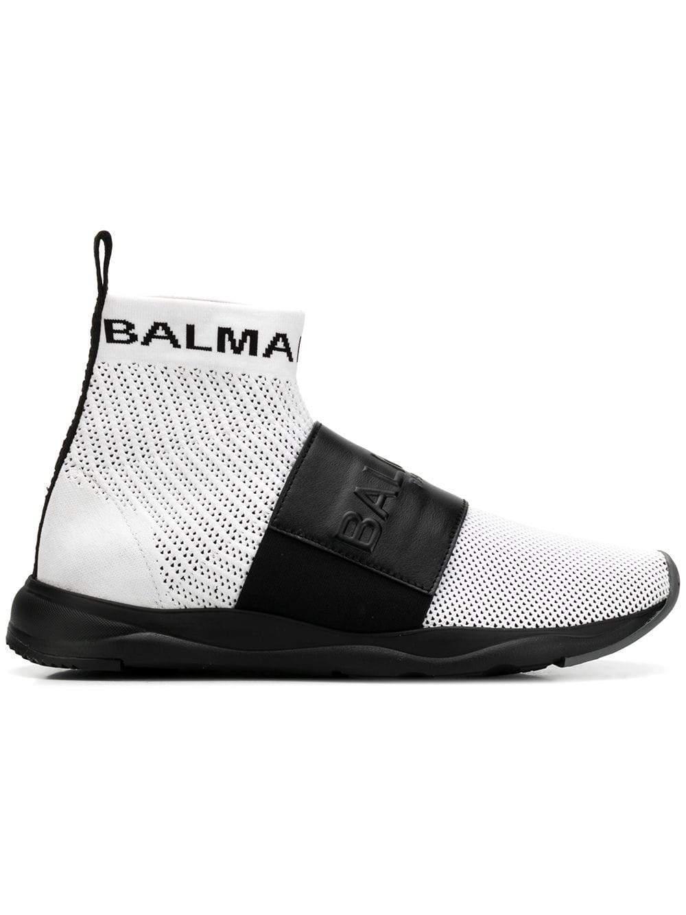 beaf551897 Balmain Paris Mesh Cameron Sneakers in Black for Men - Lyst