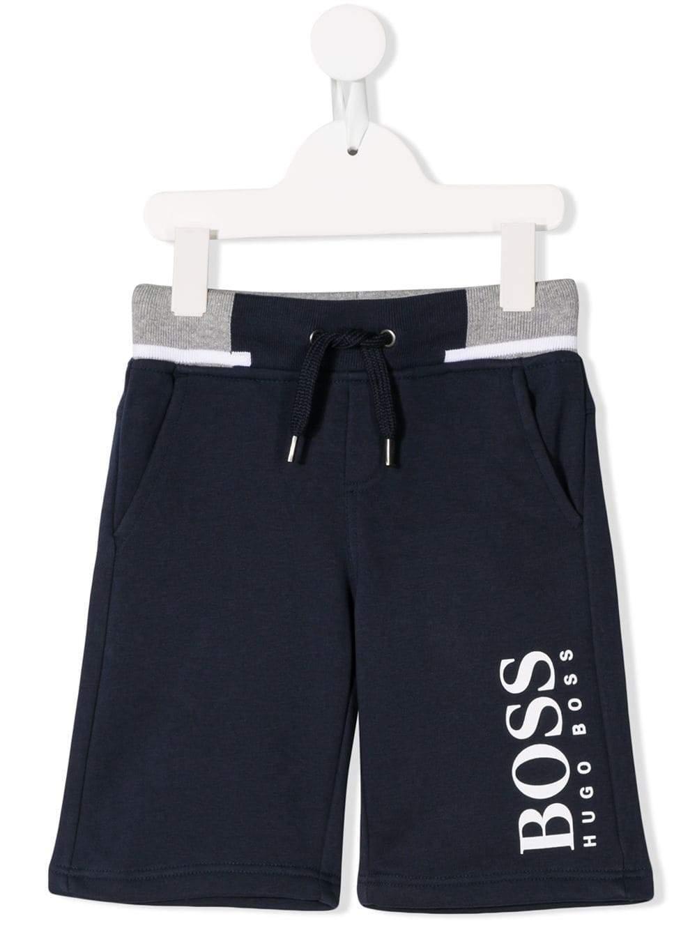 59a264531 BOSS - Blue Kids Logo Swim Shorts Navy for Men - Lyst. View fullscreen
