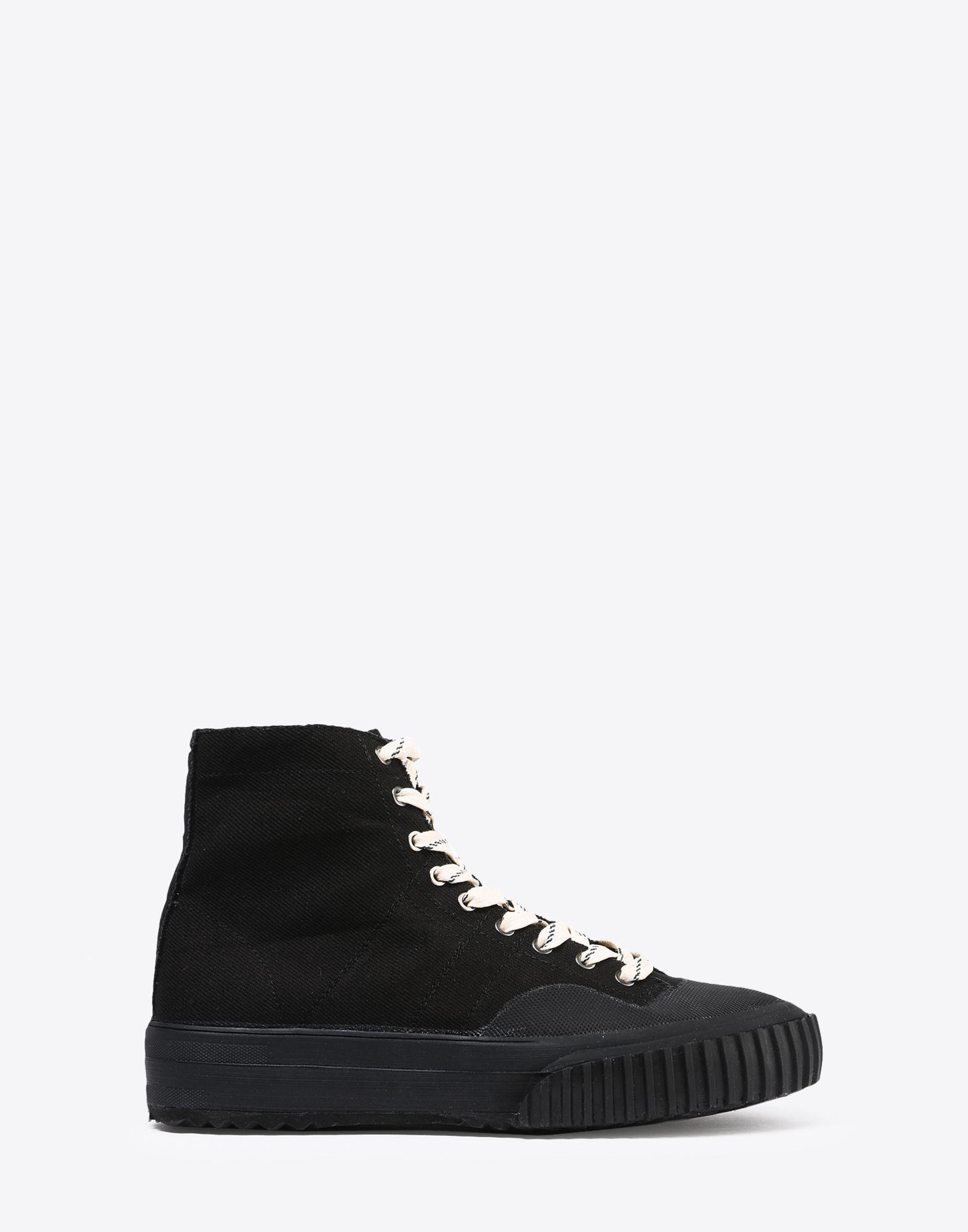 Canvas And Rubber Sneakers - BlackMaison Martin Margiela 8mgXk7I5Eg