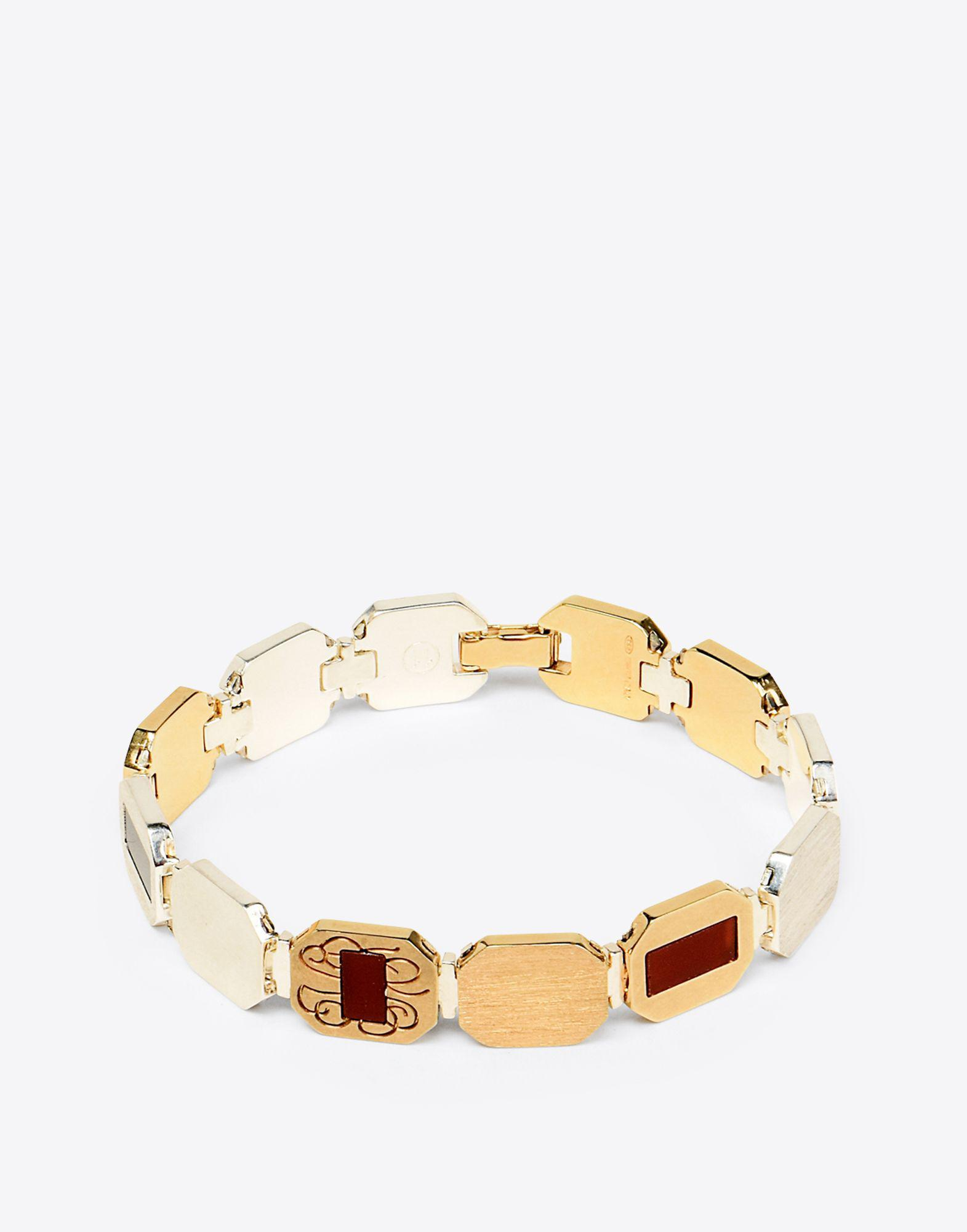 Brass Bracelet in Silver Brass and Swarovski Pearl Maison Martin Margiela ElqEV