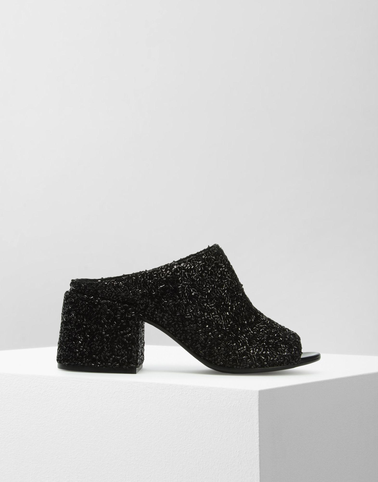 fcf55d64cd89 Lyst - MM6 by Maison Martin Margiela Beaded Mid-heel Mules in Black