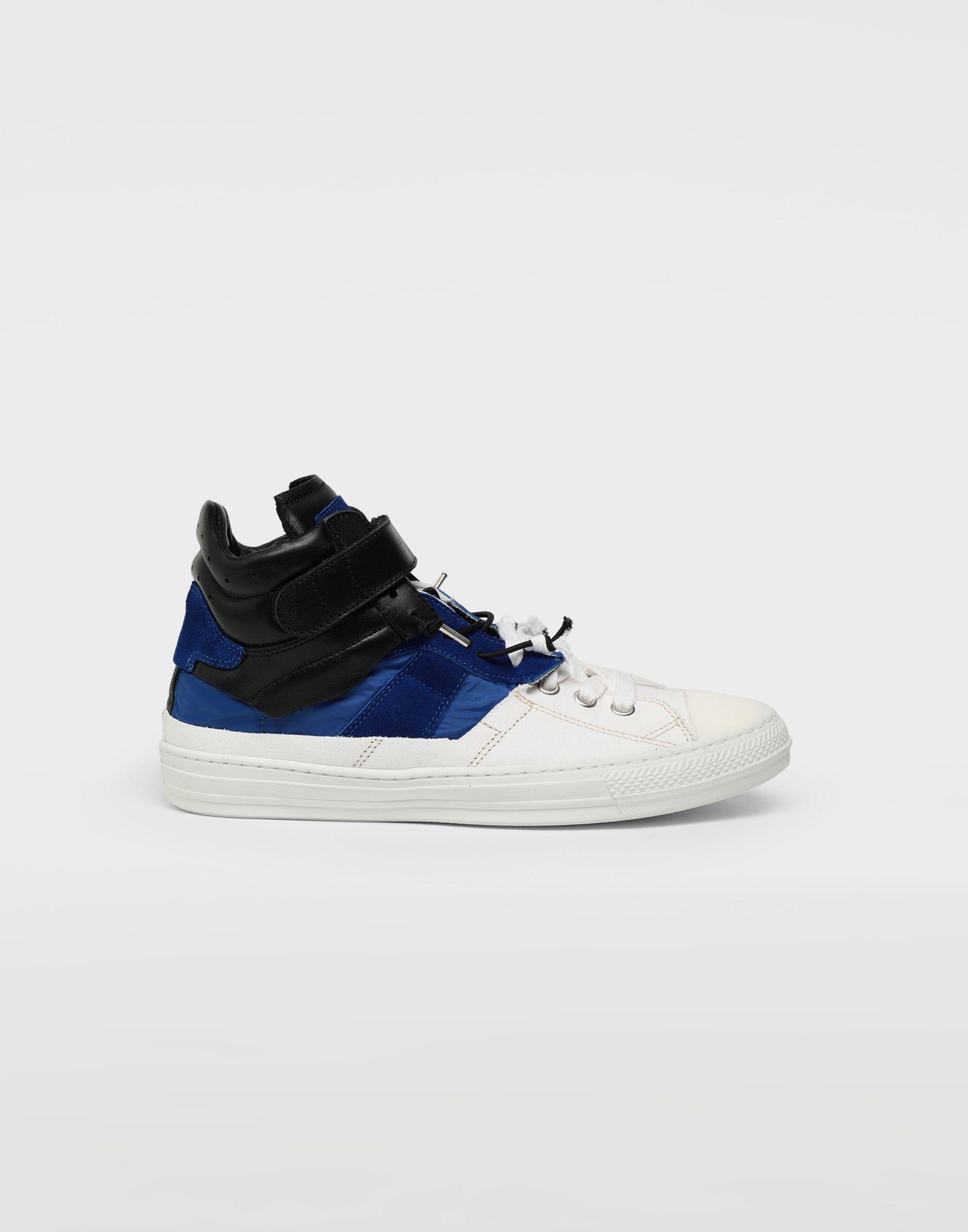 1760d41ea386 Lyst - Maison Margiela Spliced High Top Sneakers in White for Men