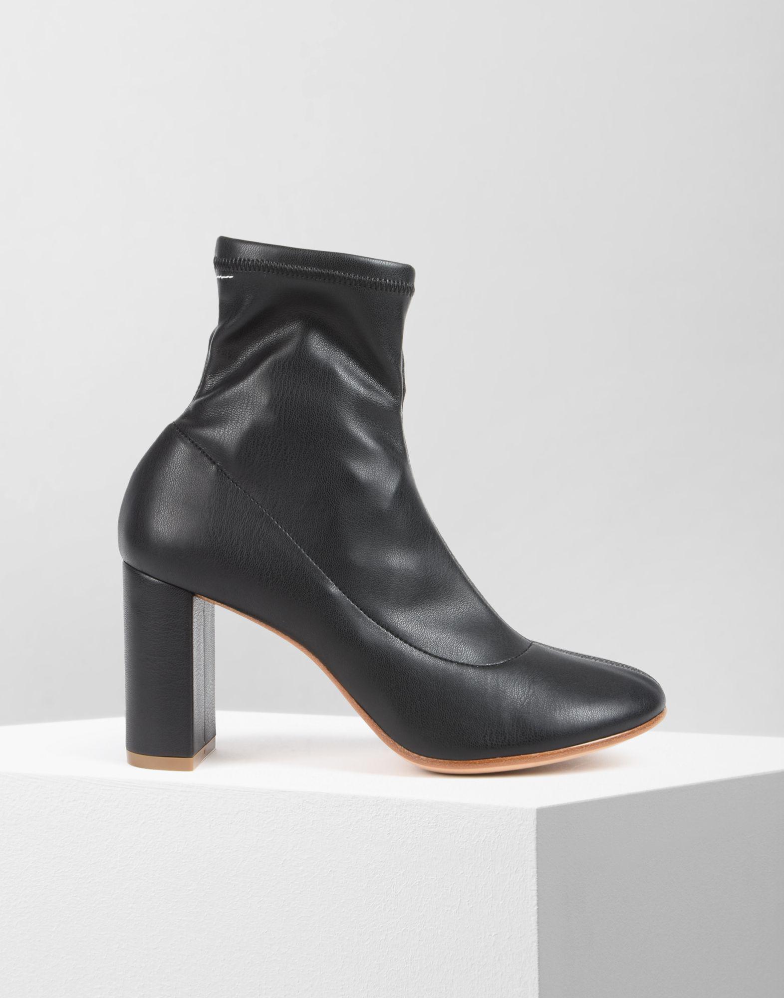 MM6 Maison Martin Margiela Black Pump-Sock Ankle Boots FYsR1