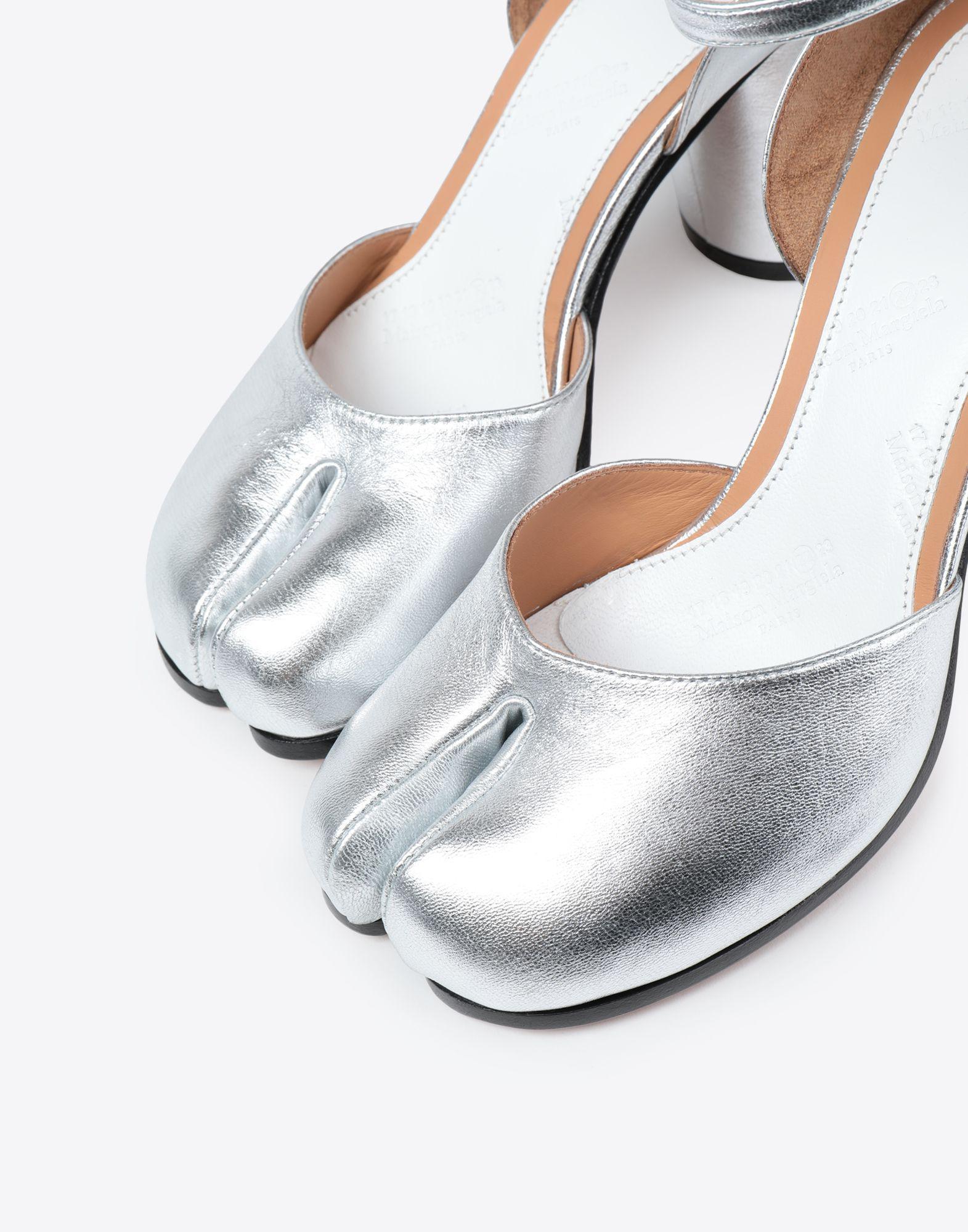 789b3260893b Lyst - Maison Margiela Silver Tabi Sandals in Metallic - Save 49%