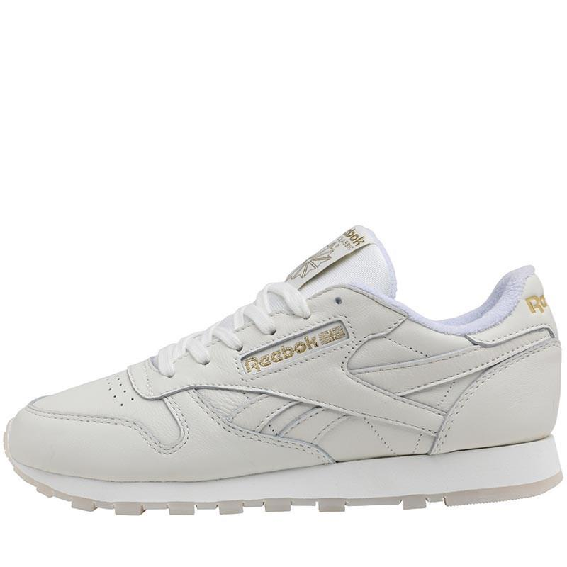 96808d30638 Reebok Leather Gm Trainers Chalk lucid Lilac gold Metallic in ...