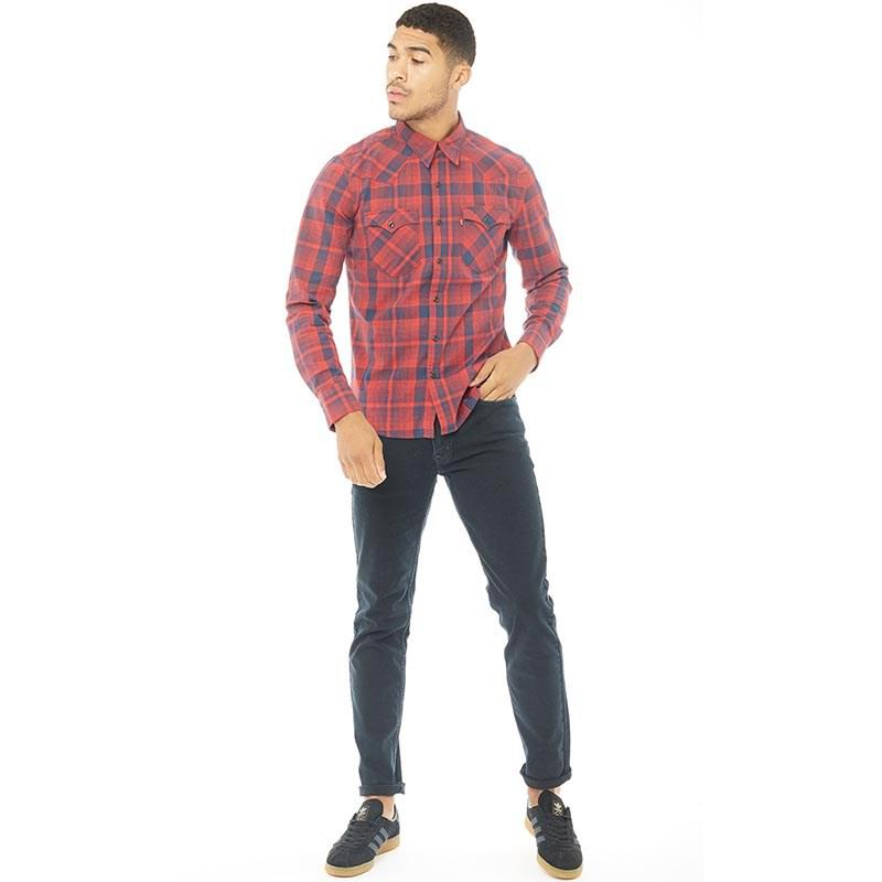 4ac13721d4eb82 Levi's Barstow Western Shirt Nighthawk Chinese in Red for Men - Lyst