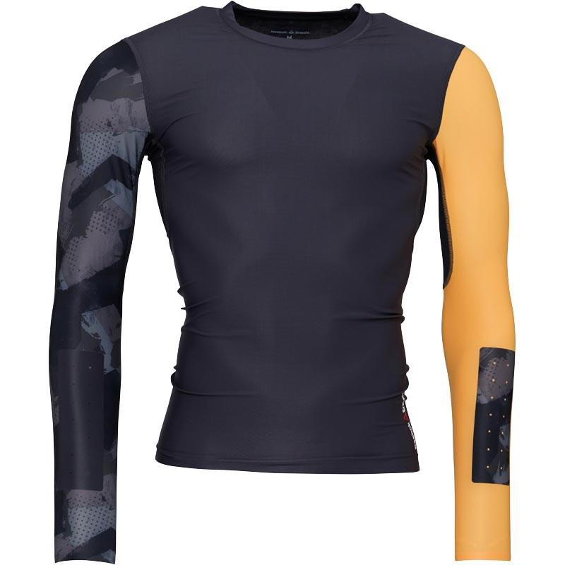 4bb79fb97827 Reebok Crossfit Long Sleeve Compression Top Lead in Gray for Men - Lyst
