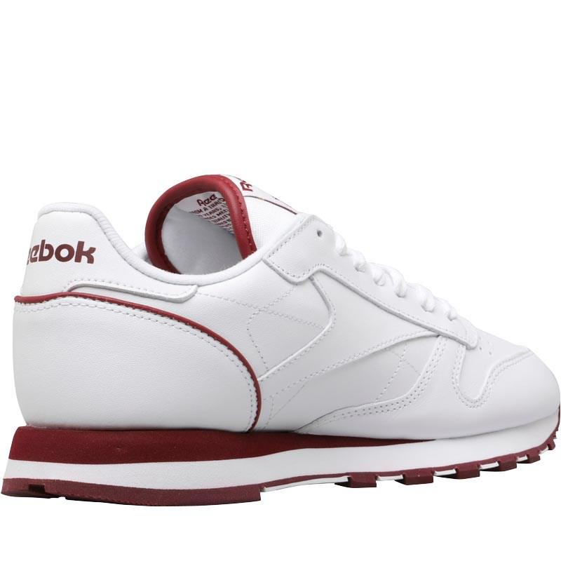 Reebok Classic Leather Trainers Intuition White collegiate Burgundy ... 7c61b29a6