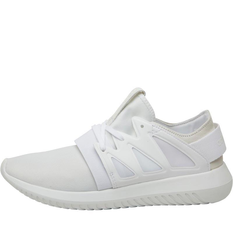 Viral Lyst adidas Originals tubular blanco / blanco / blanco en instructores