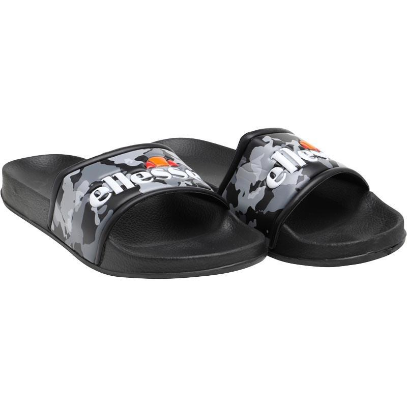 4867f344b Ellesse Logo Slide Flip Flops Black camo grey in Black for Men - Lyst