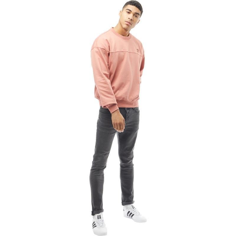 f7f5ad1c7 adidas Originals Fallen Future Modern Crew Neck Sweat Raw Pink in ...