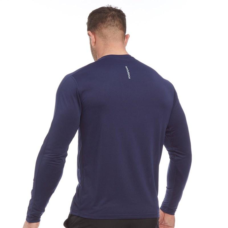 ca03603700c New Balance - Blue Accelerate Long Sleeve Running Top Pigment Navy for Men  - Lyst. View fullscreen