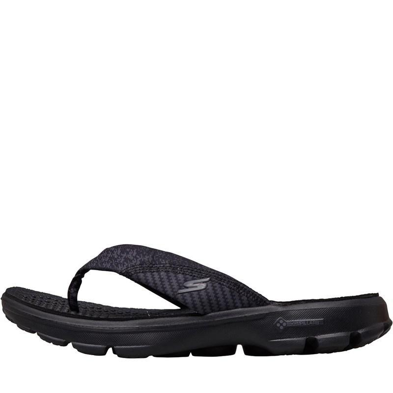 0ffccd8ace Skechers - Gowalk Pizazz Toe Post Sandals Black/black - Lyst. View  fullscreen