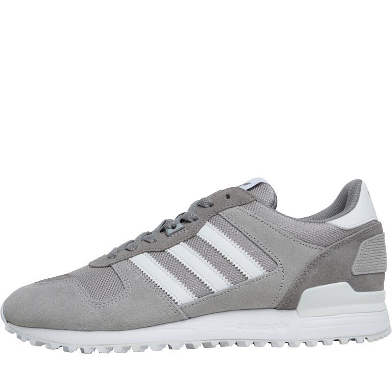 uk availability 42603 39de0 adidas Originals Zx 700 Trainers Charcoal Grey footwear White solid ...