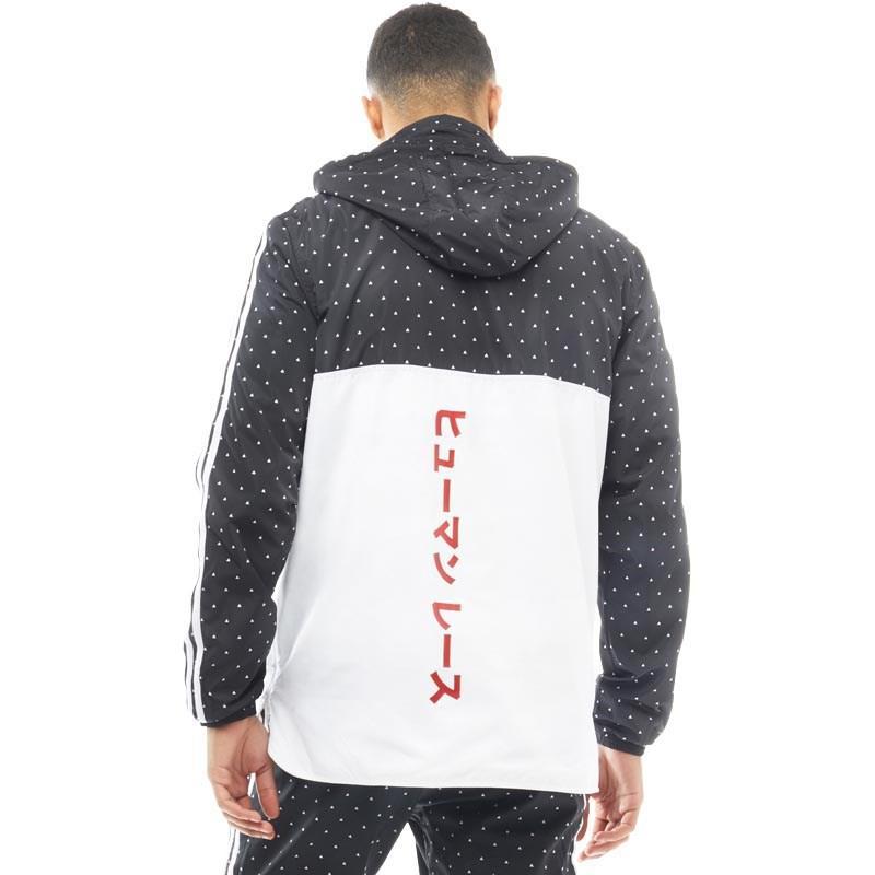 adidas Originals Pharrell Williams Hu Woven Hoody Black white in ... 8ef834be2