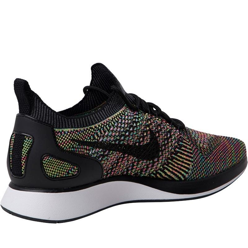 986f7a044216d Nike Air Zoom Mariah Flyknit Racer Trainers White black volt ...