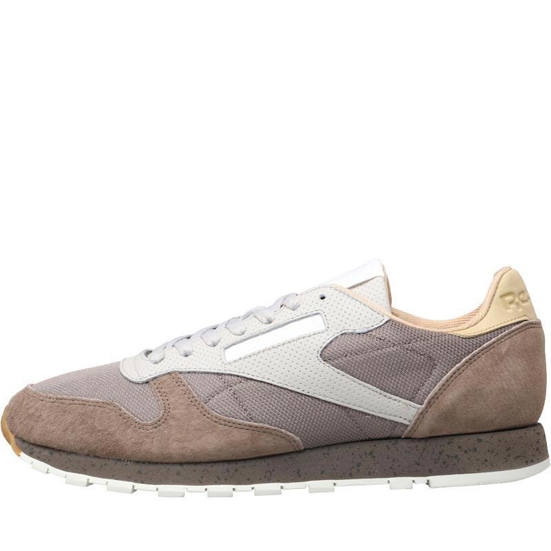 367940c5093c Reebok Leather Urban Descent Trainers Stone Grey sand Stone utility ...