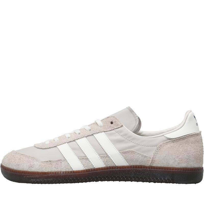 Adidas originali wensley spzl formatori chiaro granito / bianco