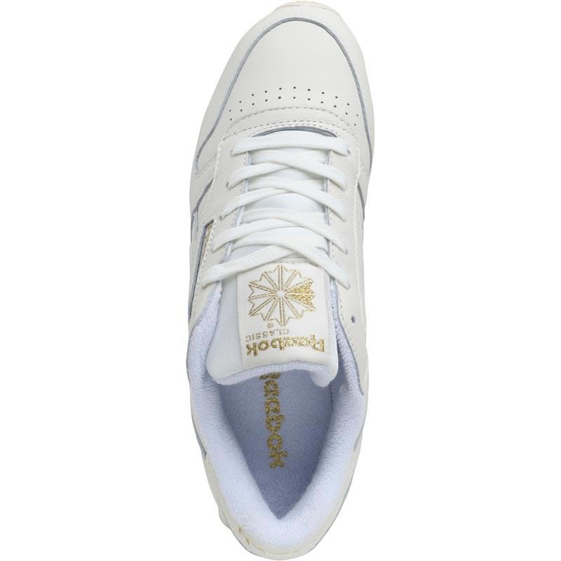 1d1fec36fa19 Reebok Leather Gm Trainers Chalk lucid Lilac gold Metallic in ...