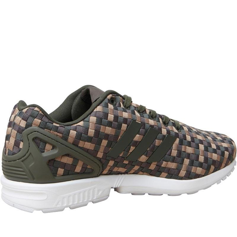 a040a1b4d adidas Originals Zx Flux Trainers Night Cargo umber cardboard in ...