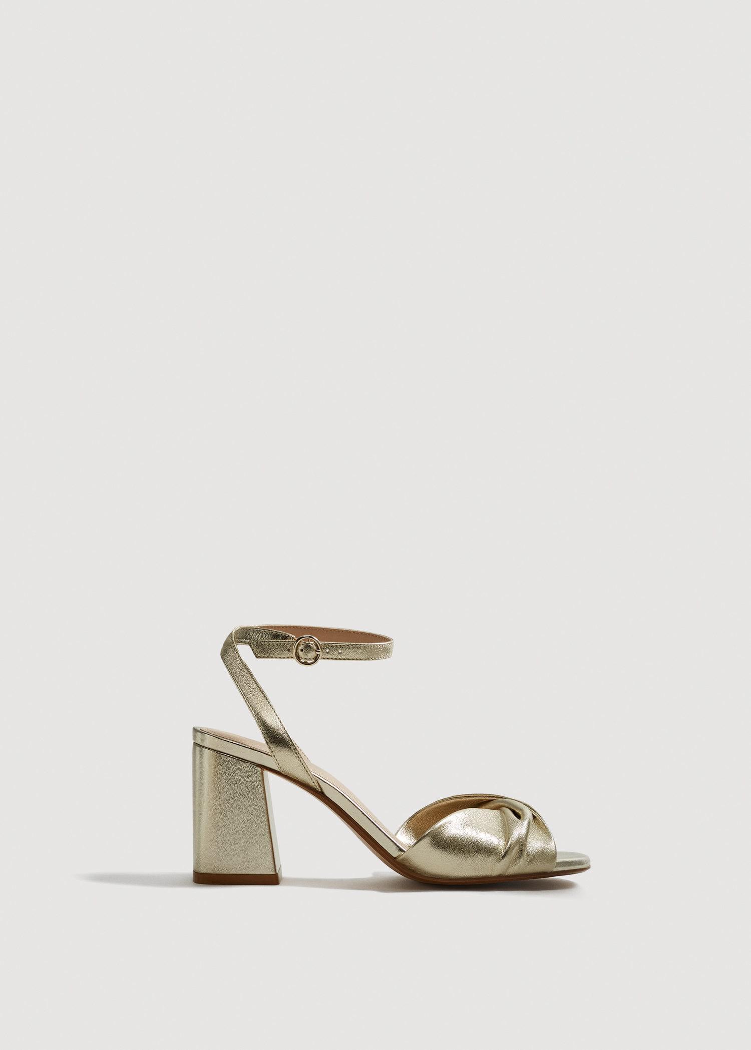 MANGO Metallic leather sandals 3Kdrl
