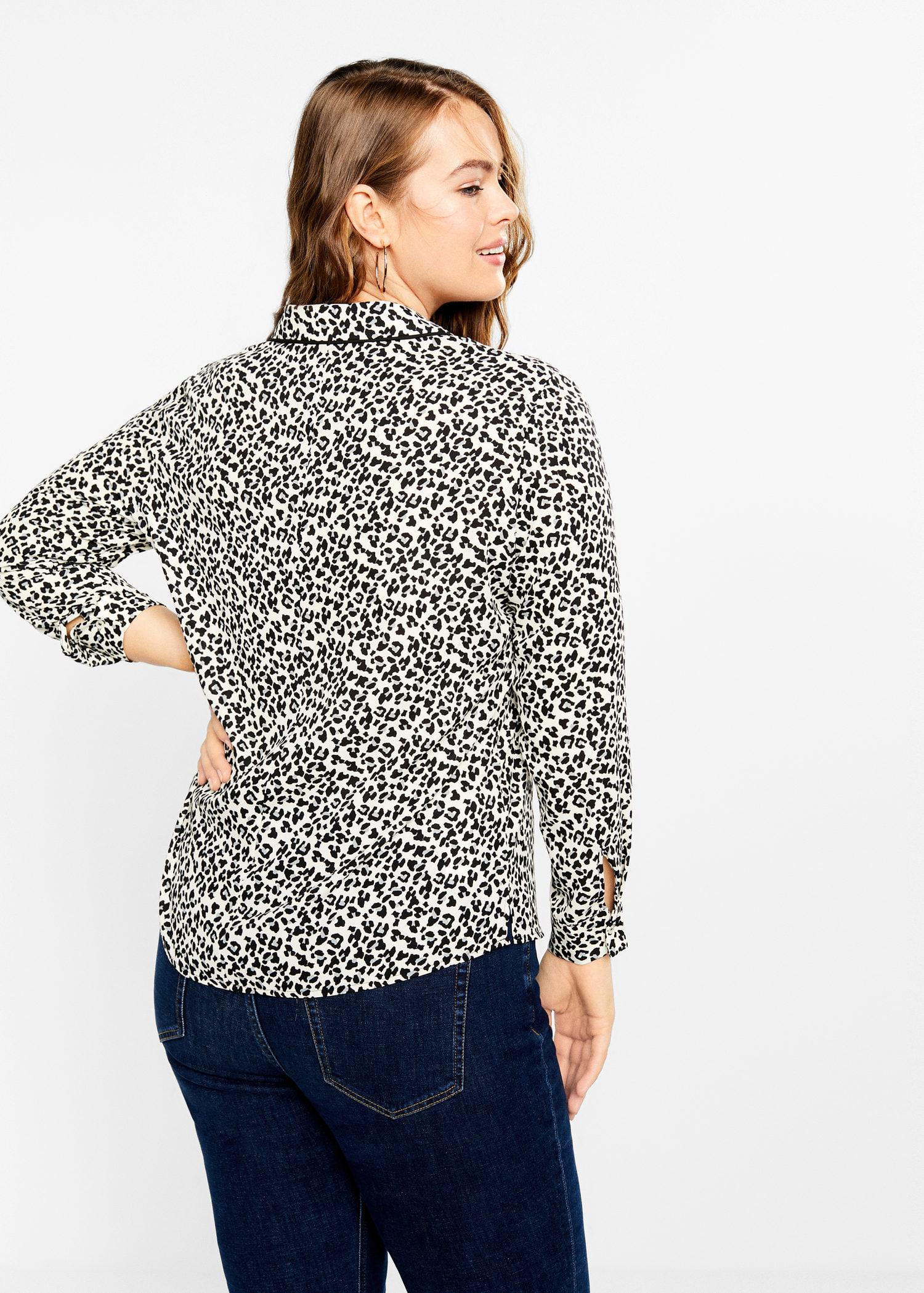 2702f7a8d4c Lyst - Violeta By Mango Animal Print Blouse
