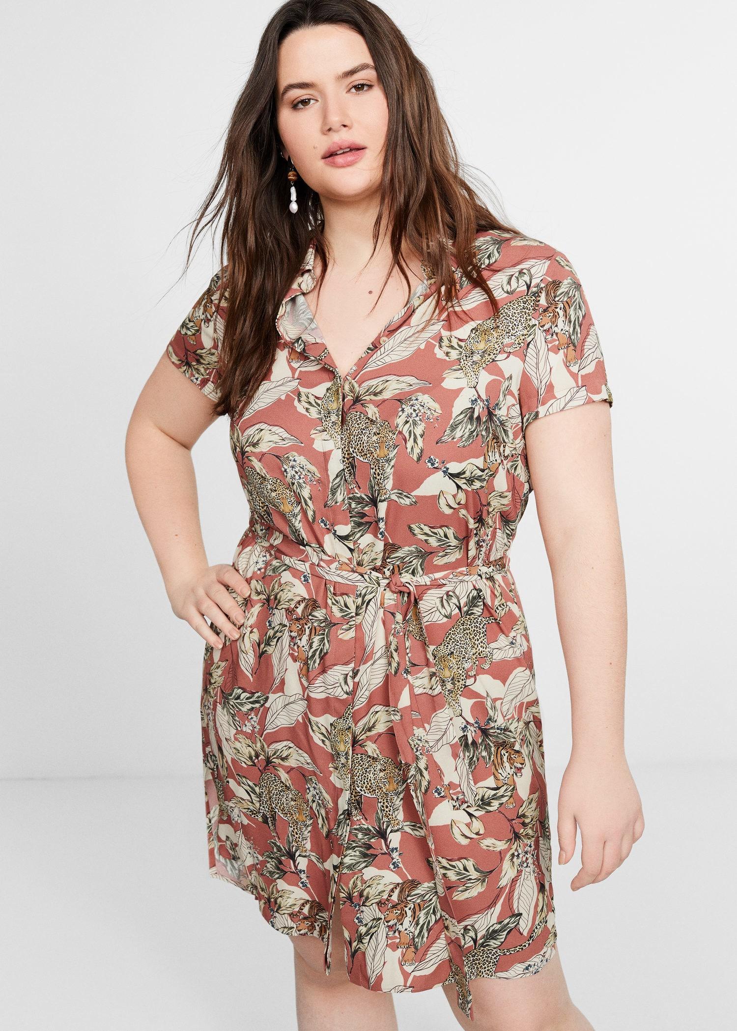 4800981509f Violeta by Mango. Women s Tropical Print Dress