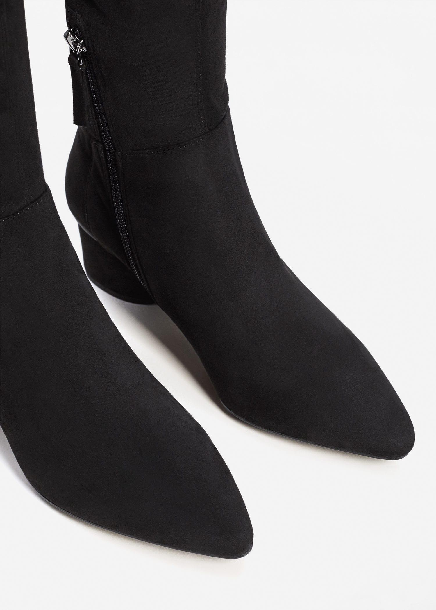 b36bbe97cc2b Lyst - Mango Over The Knee Heel Boots in Black