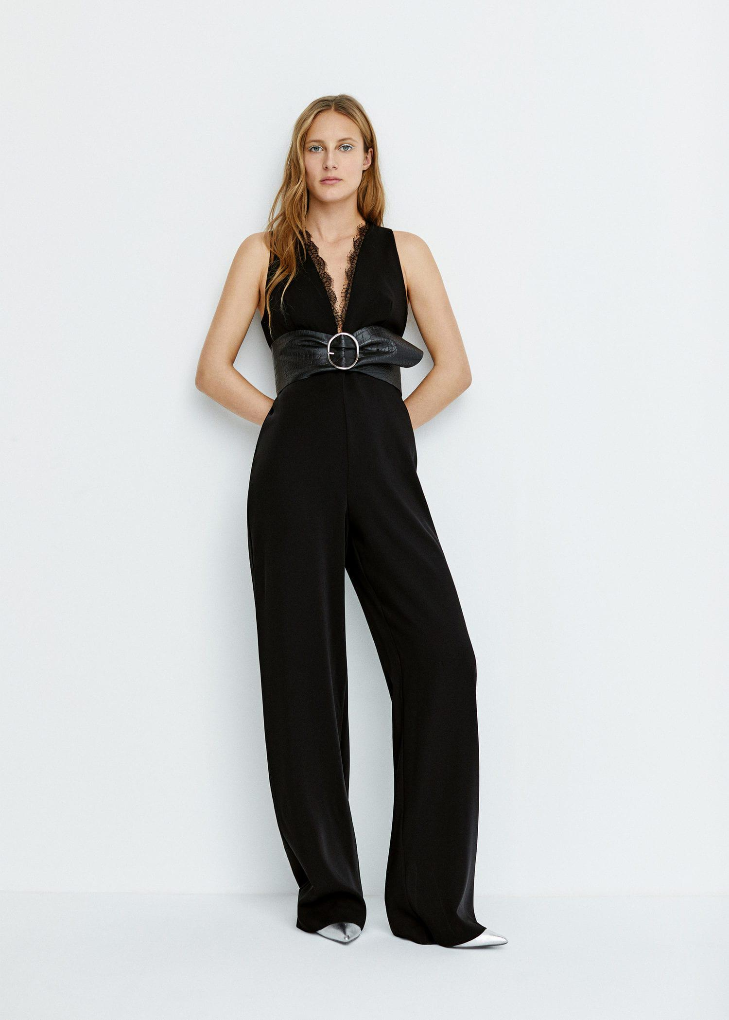 8312491e8e62 Gallery. Previously sold at  Mango · Women s Striped Jumpsuits Women s Black  ...