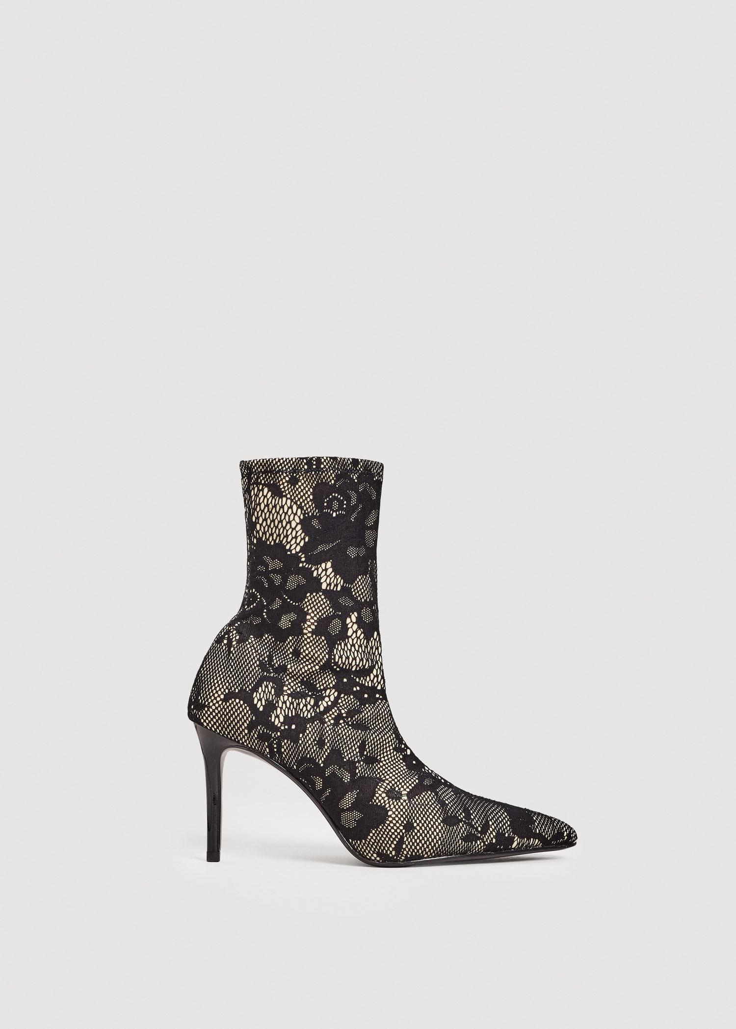 MANGO Lace sock boots nmfxrydQec