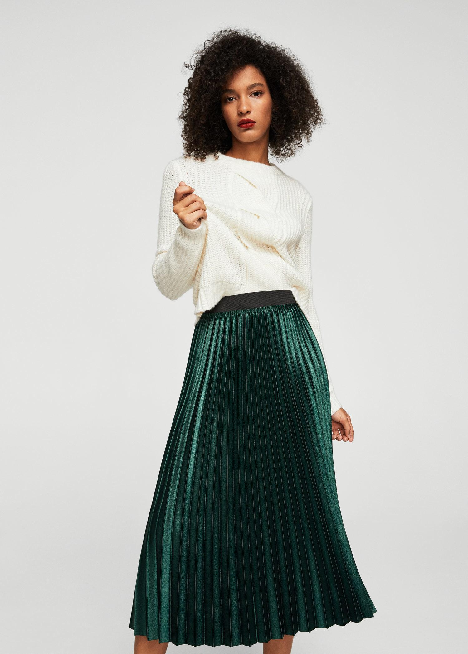 6167faf79c Gallery. Women's Metallic Skirts Women's Pleated Skirts