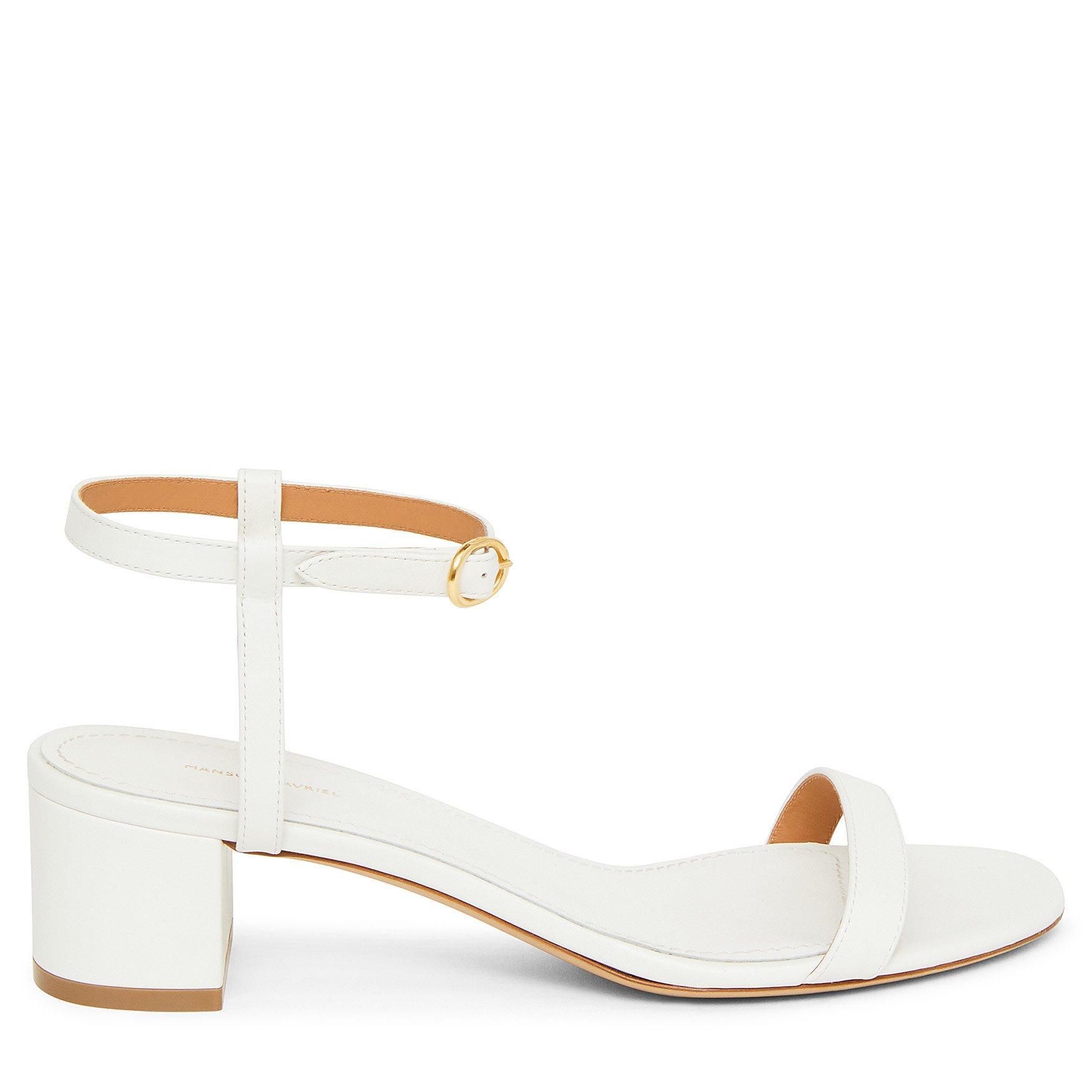 71152aa62500 Lyst - Mansur Gavriel Lamb Ankle Strap Sandal - White in White