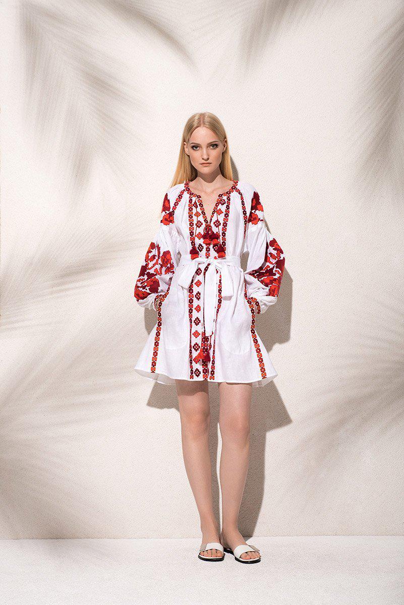 Lyst March11 Flower Pixel Mini Dress In White In Red