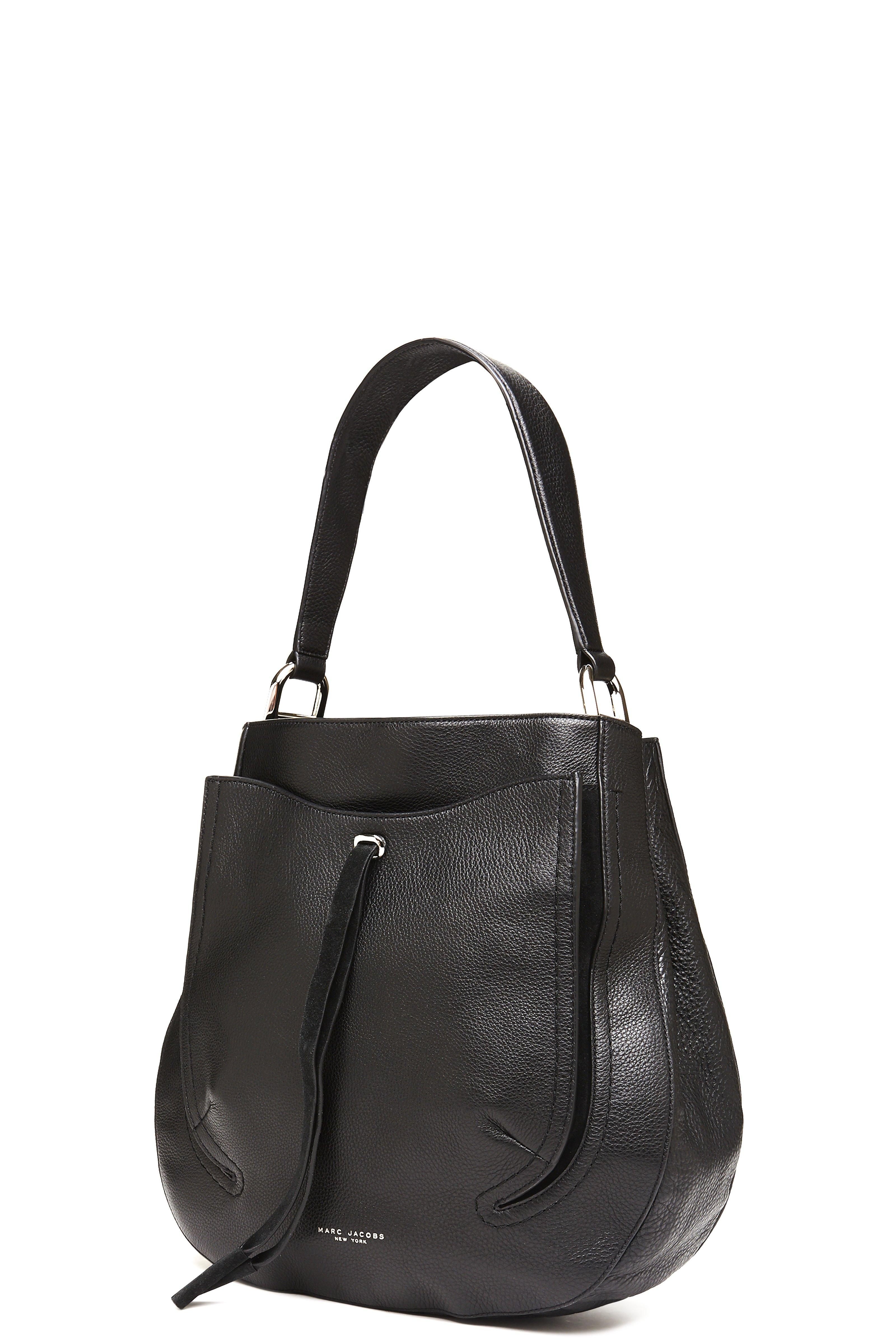 b0215519a6f Marc Jacobs Maverick Leather Hobo in Black - Lyst
