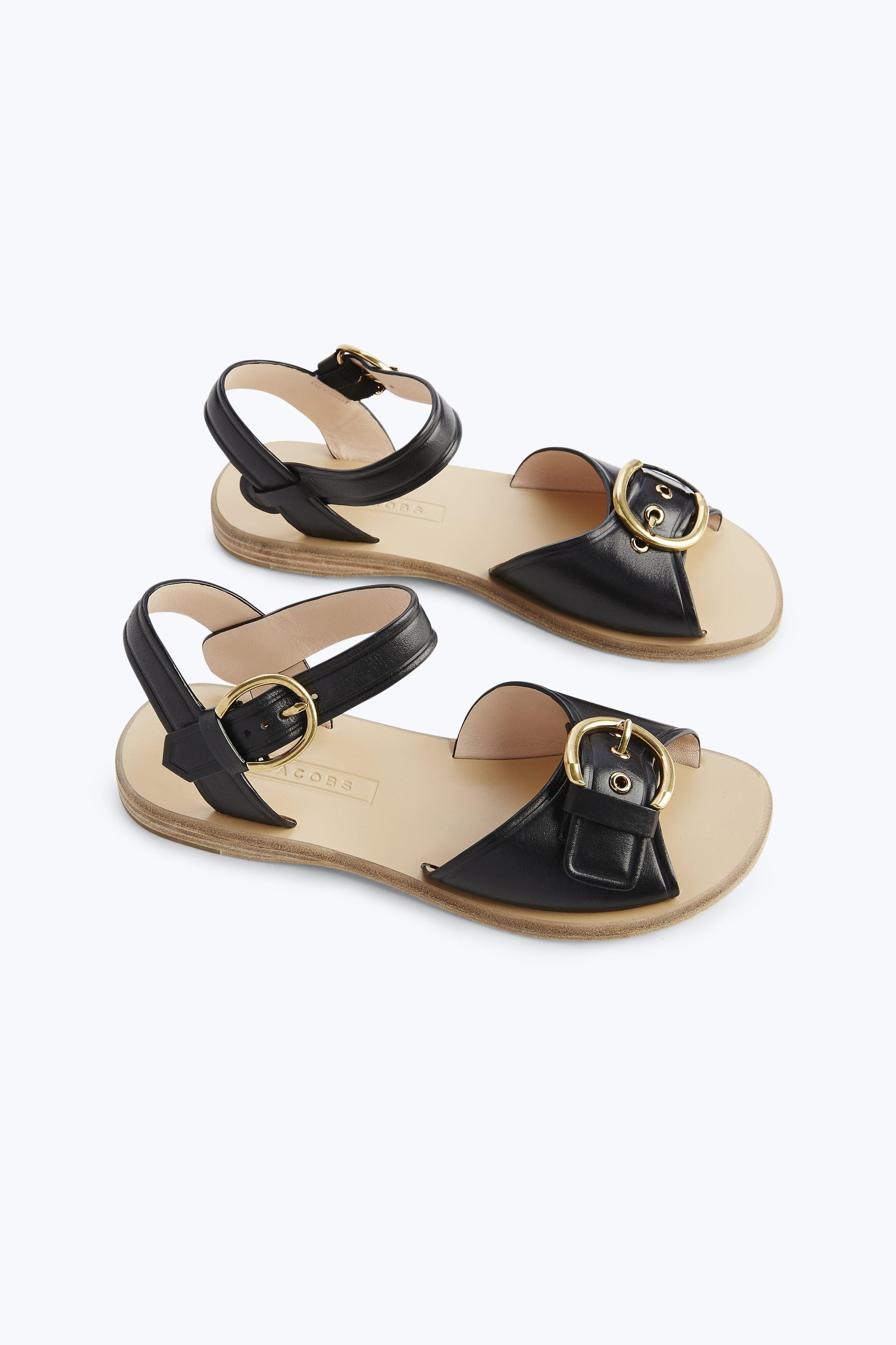 Marc Jacobs Horizon Flat Leather Sandal wMMGtJm