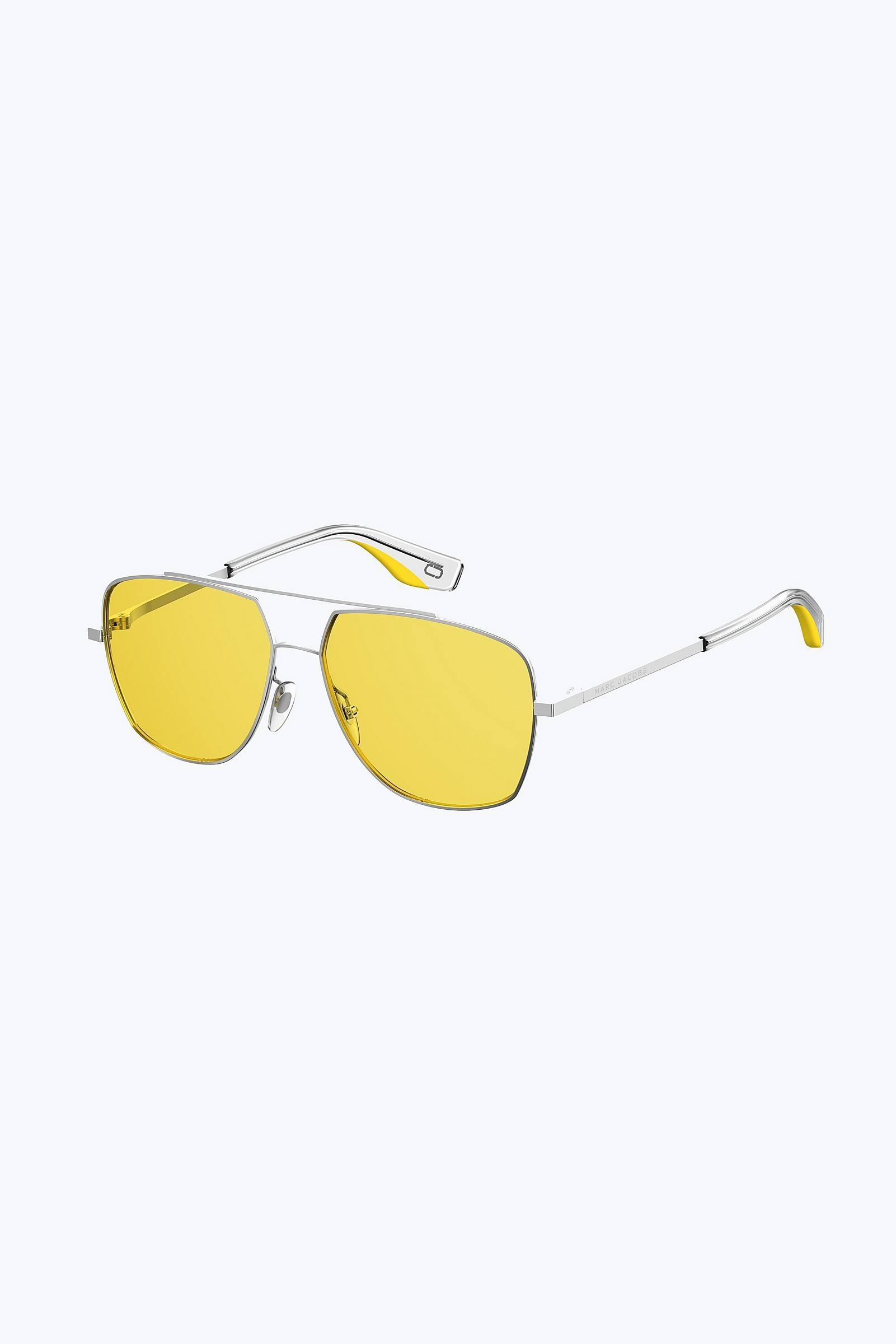 fa4c942736a Marc Jacobs - Yellow Retro Vintage Navigator Sunglasses - Lyst. View  fullscreen