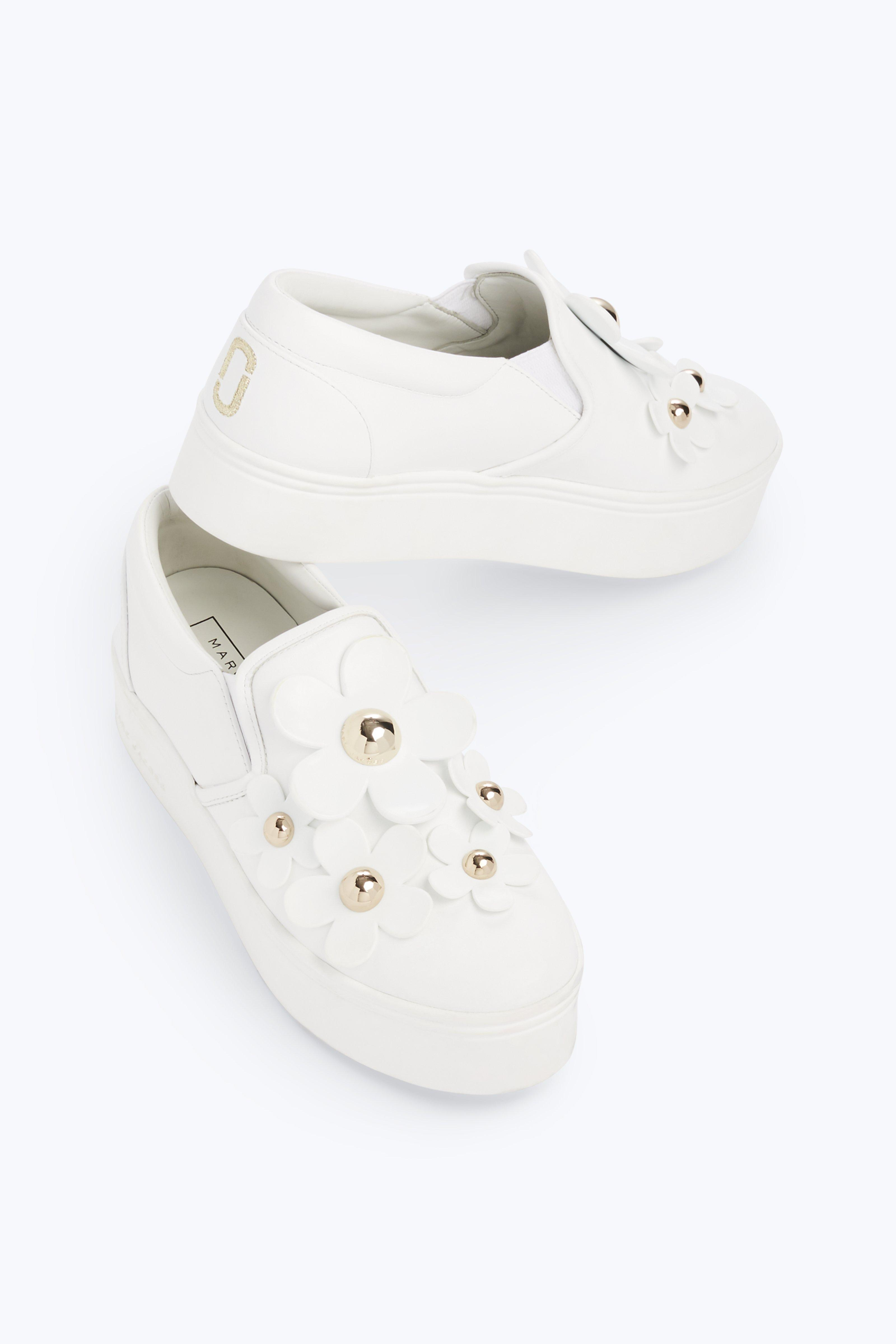 Flower-embellished leather sneakers Marc Jacobs cgPYqRSWYb