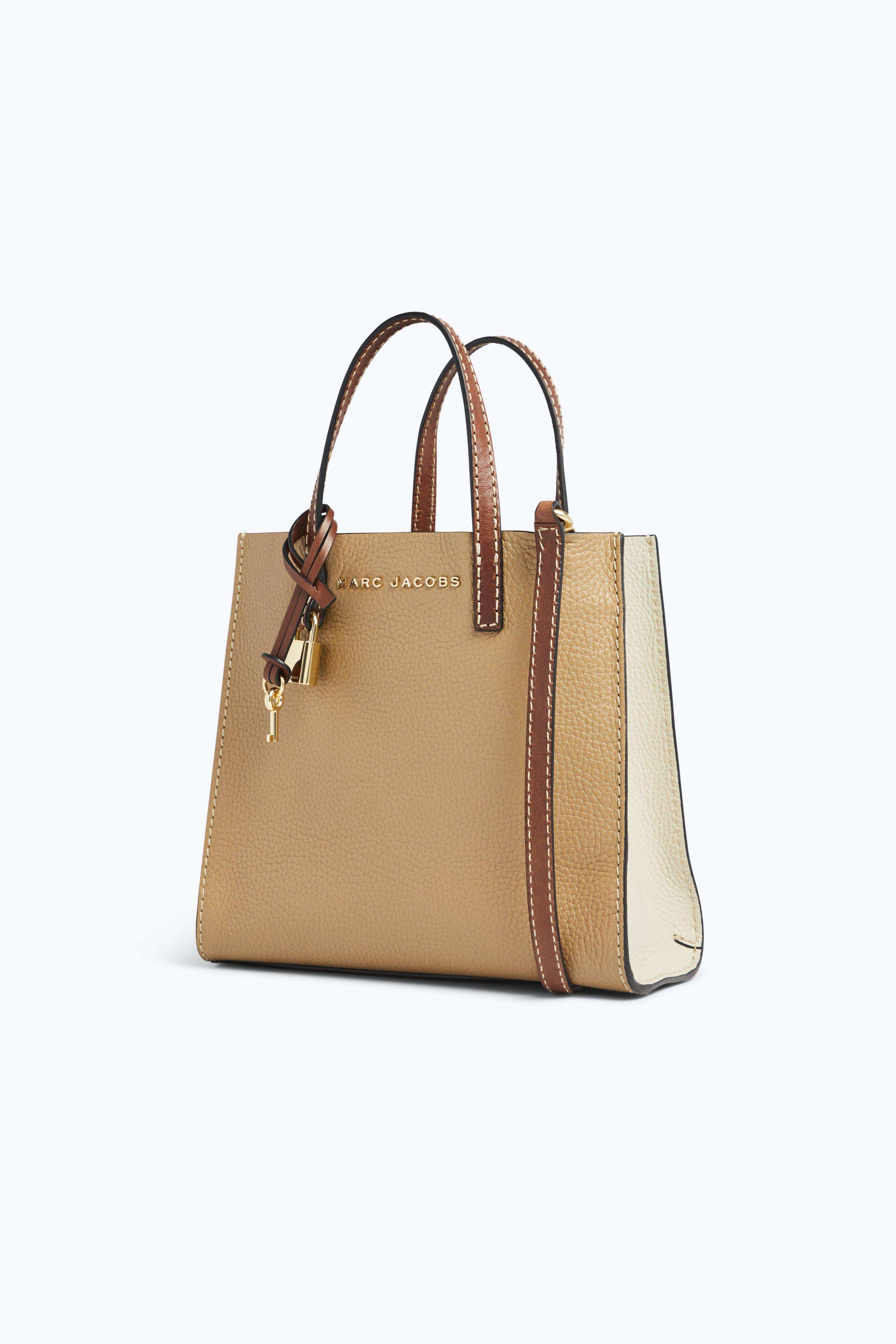 65e4766510e Marc Jacobs The Colorblock Mini Grind Bag in Natural - Lyst