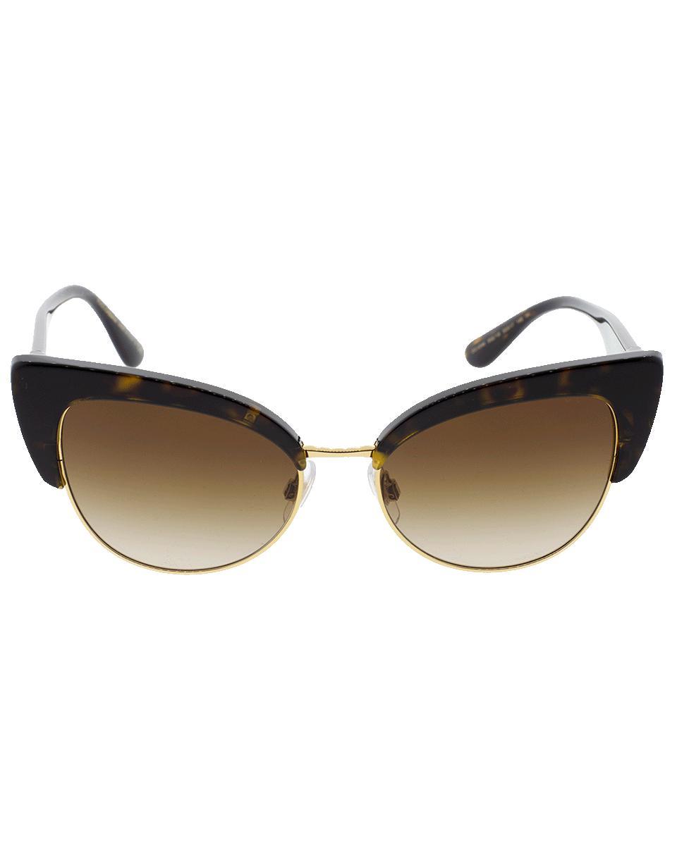 a2e0aa2683f Lyst - Dolce   Gabbana Havana Cat Eye Sunglasses in Brown