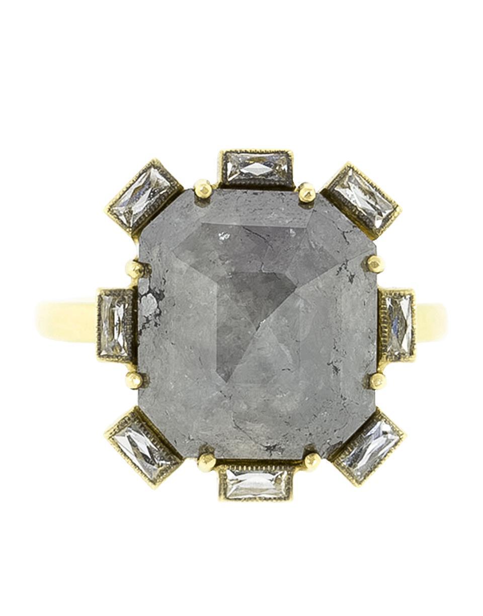 10215898bc7 Lyst - Sylva   Cie Rough Diamond Petal Ring in Metallic