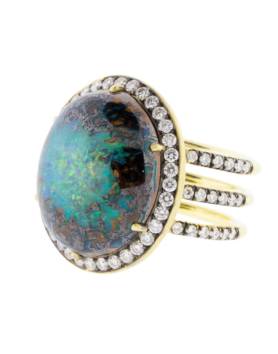 d308dbdbf6e Lyst - Sylva   Cie Australian Opal Ring in Metallic