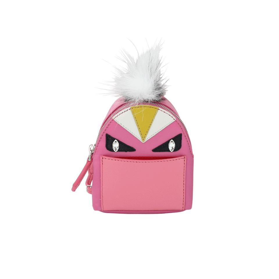 Lyst - Fendi Monster Backpack Key Charm in Pink 86b84f2660b16