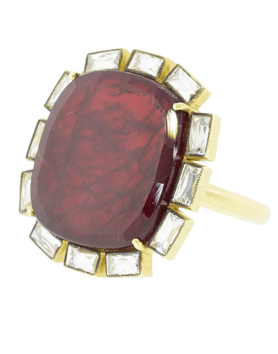 0d7fa737c70 Lyst - Sylva   Cie Ruby And Diamond Petal Ring