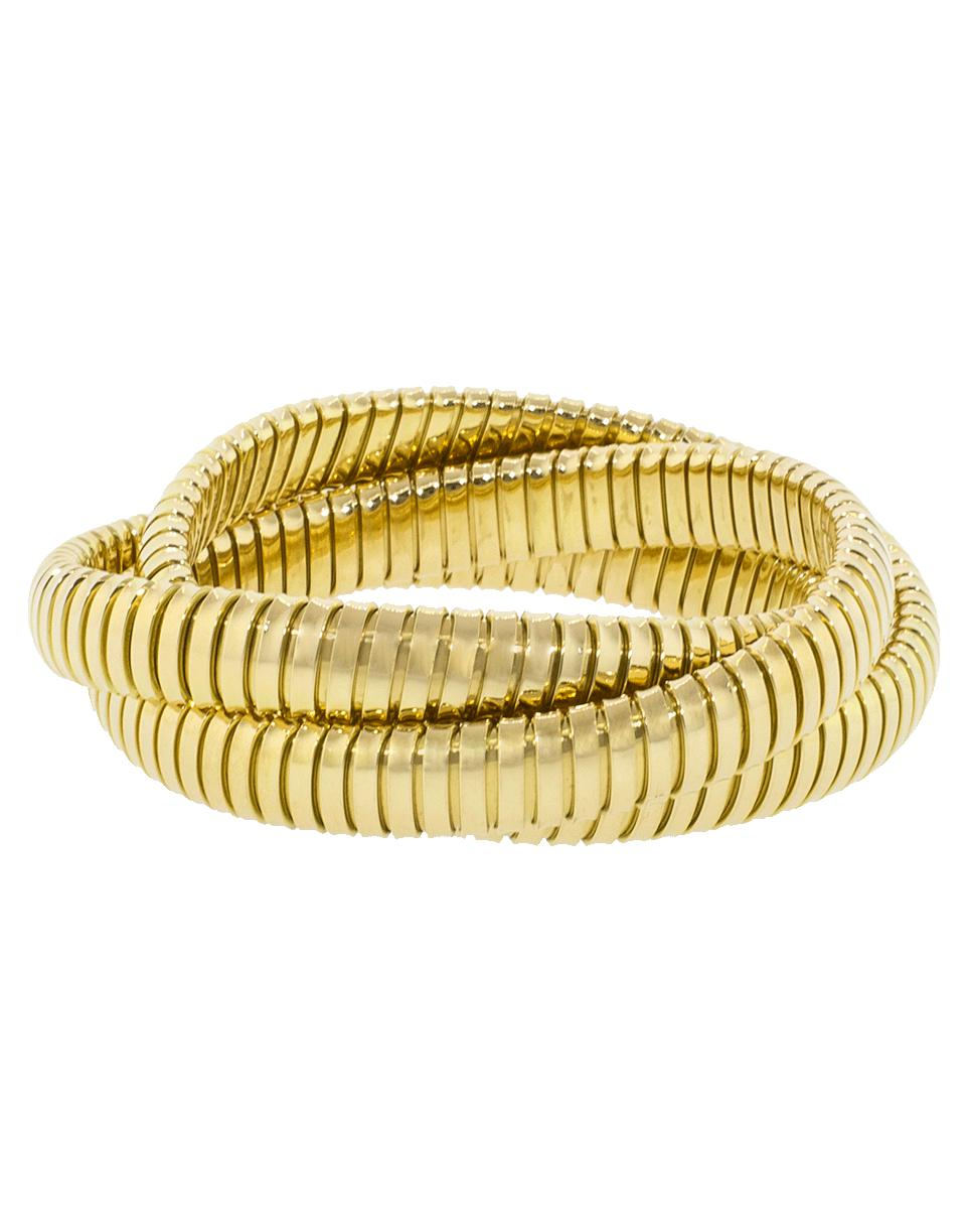 Lyst Sidney Garber Three Band Rolling Bracelets In Metallic