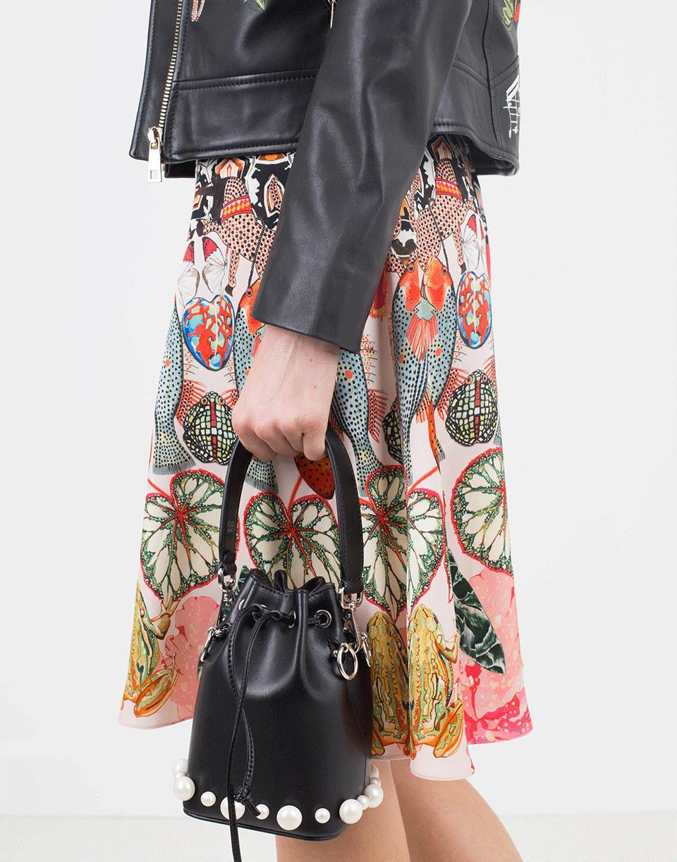 094ec016c779 Lyst - Fendi Mon Tresor Mini Bucket Bag in Black