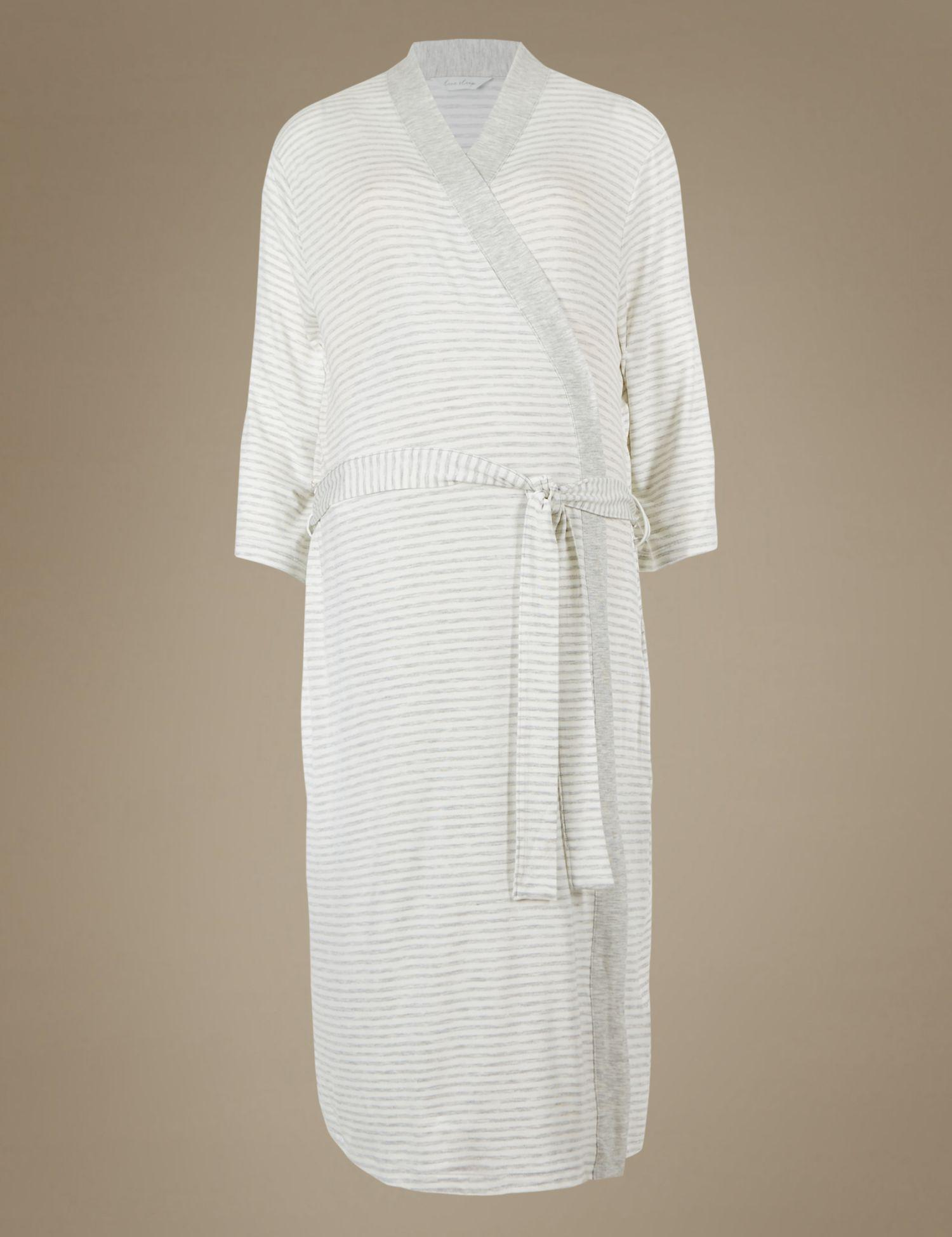 996c3020d8 Marks   Spencer Maternity Wrap Dressing Gown in Gray - Lyst